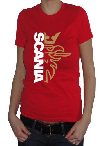 fm10 t-shirt donna SCANIA truck tir camion SPORT