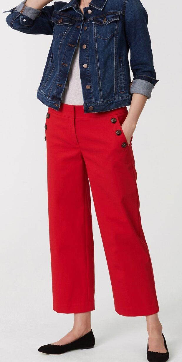 Ann Taylor LOFT Cropped Sailor Pants Size 0, 12 NWT Various colors