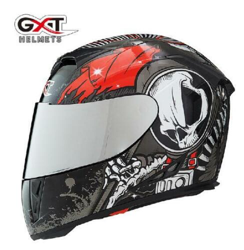 GXT Full Face Motorcycle Helmets Winter Double Visor Racing Casco Moto Helmets