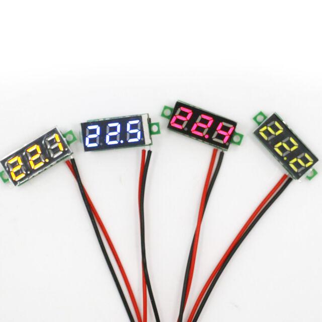 Mini DC 2.4-30V LED Panel Voltage Meter 3-Digital Display Voltmeter Motorcycle S