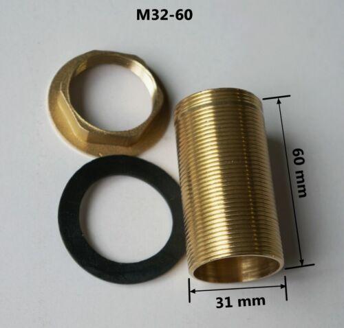 Kitchen Basin Mixer Tap Repair Fitting Kit Threaded Brass Tube Nut Install Parts