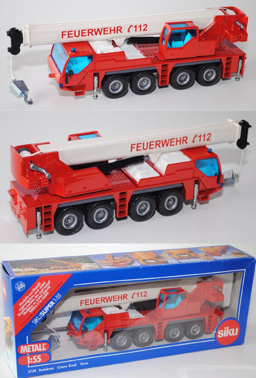 SIKU SUPER 3730 00407 Pompiers Grue mobile LIEBHERR LTM 1060 2 Modèle Spécial