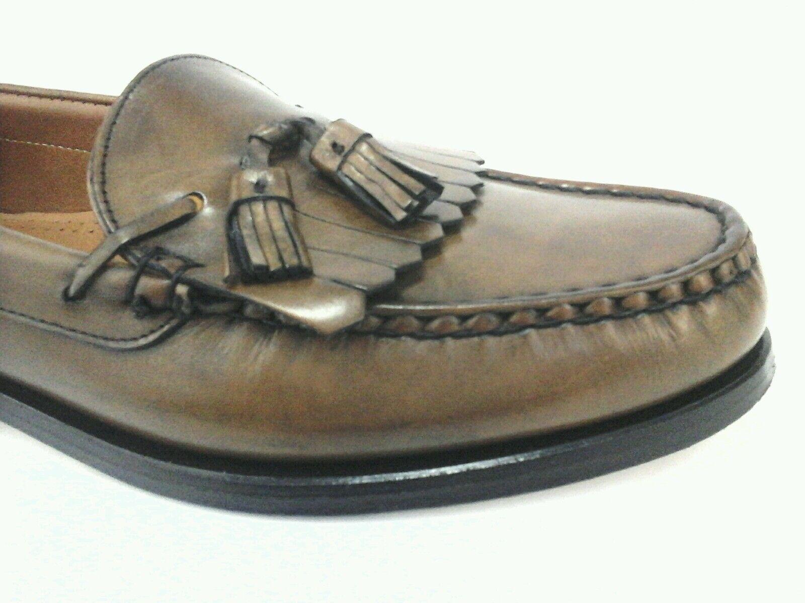 Allen Edmonds Lowry H Mens Brown Leather Kiltie Tassel Slip On shoes US 11 EU 44