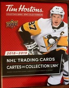 2018-19-UD-TIM-HORTONS-LIMITED-EDITION-COLLECTORS-BINDER-Holds-Complete-Set-NEW