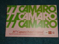 1977 CHEVROLET CAMARO OWNER'S MANUAL / GUIDE BOOK / NICE ORIGINAL!!