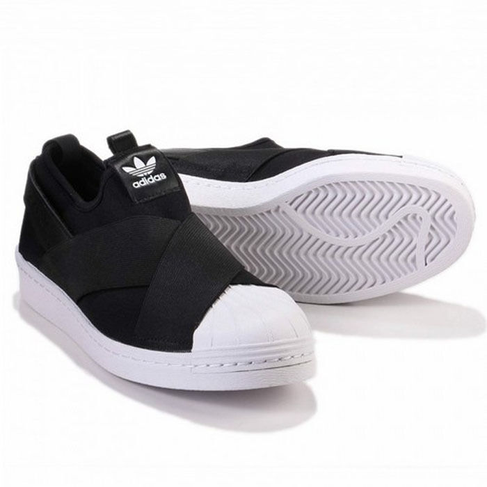 Donna originals Adidas S81337 Superstar Slip on casual shoes nero white