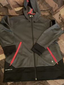 Nike-Therma-Fit-Dark-Gry-Red-Mens-Sz-L-in-Great-Condition