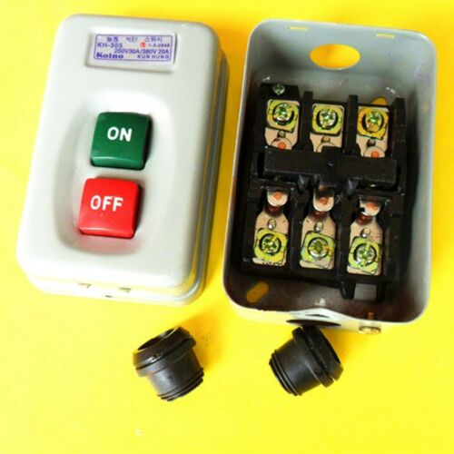 Push Button Switch Electric Power Control Box KH-305 3Phase Self Locking ON//OFF