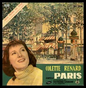 COLETTE-RENARD-CANTA-A-PARIS-SPAIN-LP-1958-VOGUE-HISPAVOX-HV-2108-Legrand