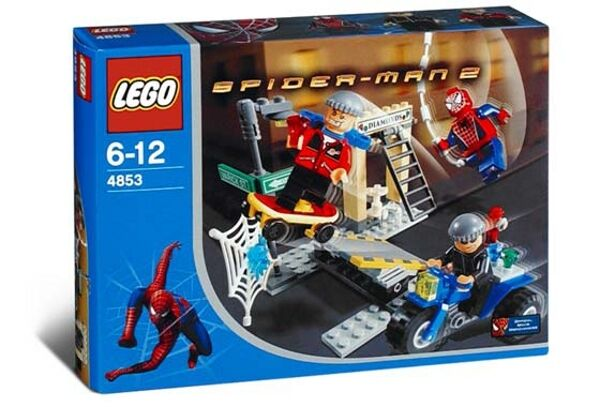 Lego 4853-Spiderman-Spider-man's Street Chase - 2004-W   Box
