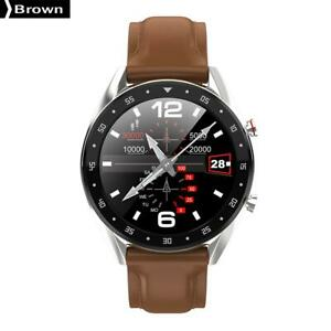 L7-Smart-Watch-Sport-Fitness-Tracker-IP68-Bluetooth-ECG-PPG-Brown