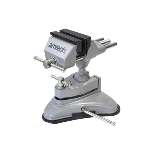 Table Vice Suction Mount Adjustable Head Suction Base 70mm Jaw Am-Tech D3425
