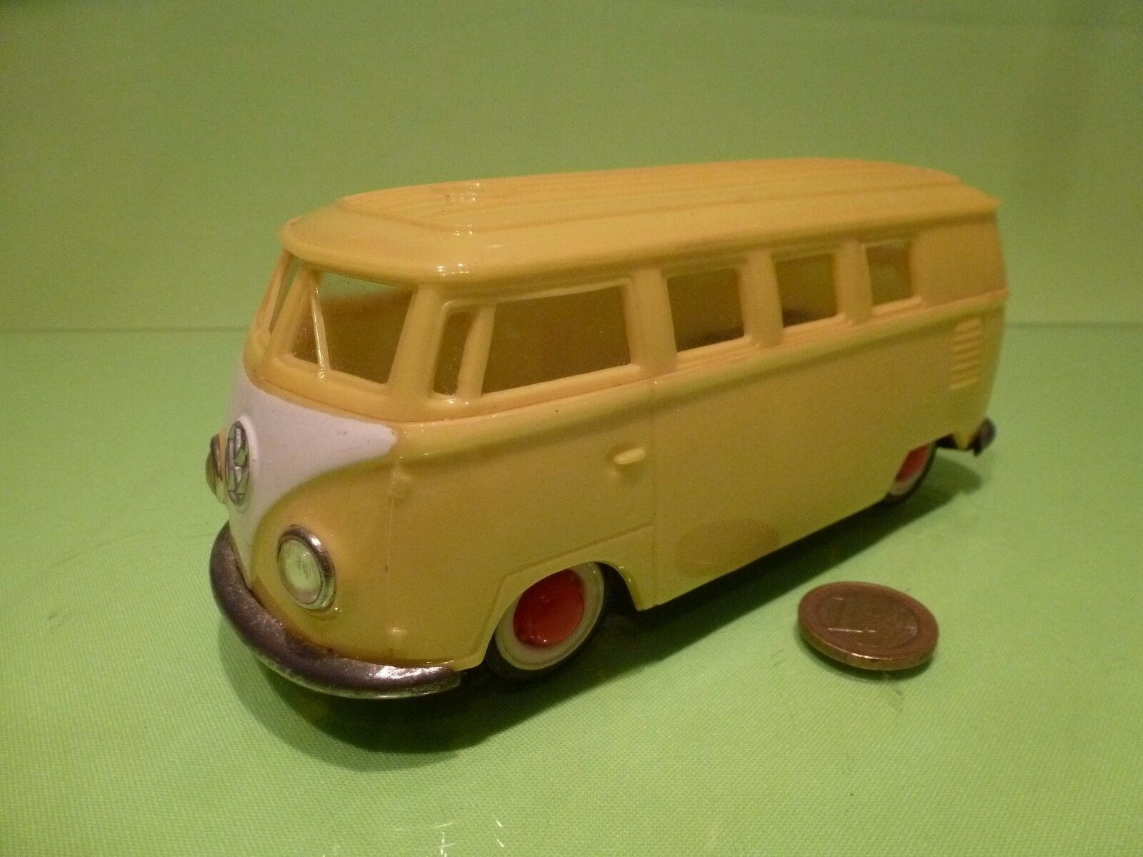 PEPE OLD VINTAGE VW VOLKSWAGEN T1 - YELLOW L17.5cm  FRICTION - GOOD COND