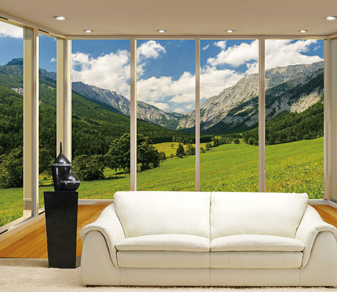 3D outside hill view 5224 Paper Wall Print Decal Wall Wall Mural AJ WALLPAPER GB
