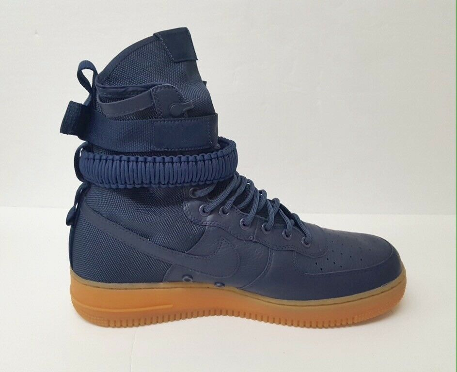 Mens Nike Air Force 1 SF Special Field Midnight Navy, 11, with Box