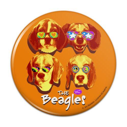The Beagles Dog Band Sunglasses Vintage Retro Pinback Button Pin Badge