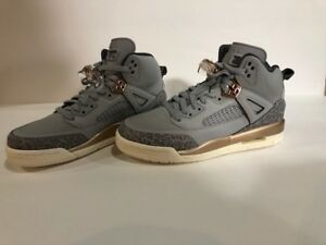 the best attitude 1b382 bd72f Image is loading Nike-Air-Jordan-Spizike-Wolf-Grey-Dark-Bronze-