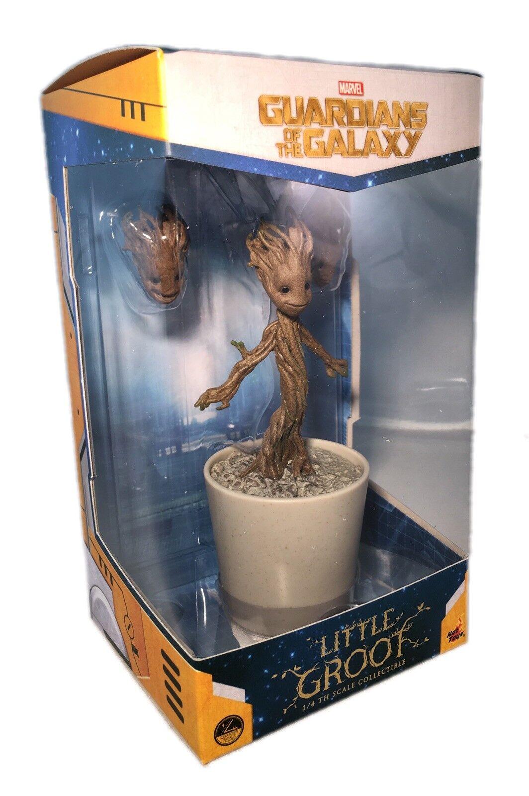 Marvel Guardianes de la galaxia poco Groot 1 4th escala Hot Juguetes Coleccionable