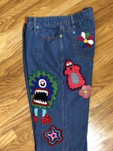 Meadham Kirchhoff Jeans Sz 8 British Designer Mons