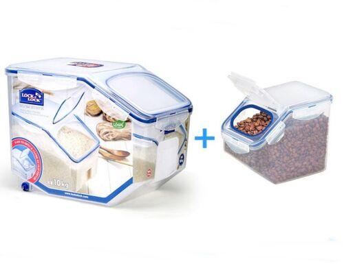 Cereal Grain Storage Container Series 10kg 2.5kg Lock /& Lock BPA FREE Rice