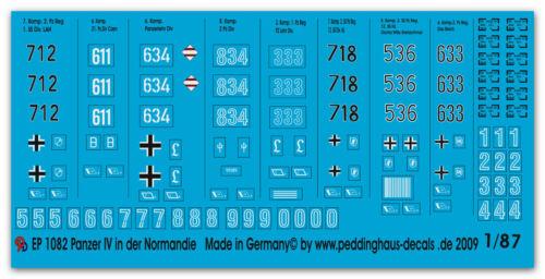 Peddinghaus  1//87 1082 Panzer IV H in der Normandie