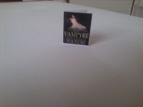 Vampyre John William Polidori dollhouse miniature book