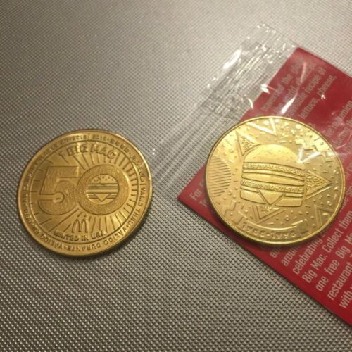 McDonald/'s 50 Years Big Mac Anniversary Mac Coins 1968 1978 1988 1998 2008 2018