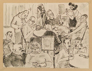 "1946 Drawing Ulrike Prochaska ""province High Society"""