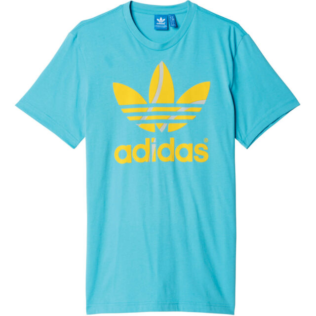 Adidas Originals Fiocco Tennis Palla Tee T Shirt Uomo Maglietta ... 3cbd25fca92a
