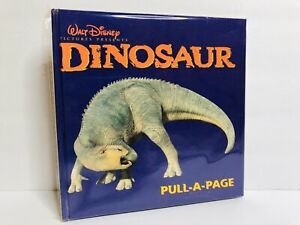 Walt Disney Mouse Works Pull A Page Book: Dinosaurs First Edition 2000 Rare