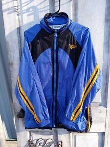 Vintage 90s Reebok Full Zip Windbreaker track Jacket sz small Mens