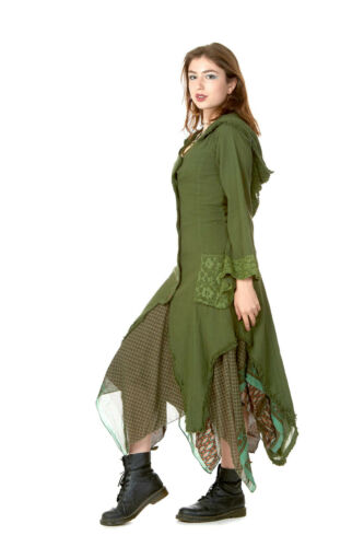 Pixie Cappuccio Giacca elfico DEA Pagana Abbigliamento naturali boho Giacca Psy Trance