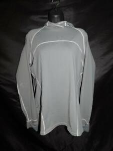 REI-L-Womens-Gray-Hoodie-Shirt-Long-Sleeve-Over-Hand-Thumb-Hole-Sleeves-Lg