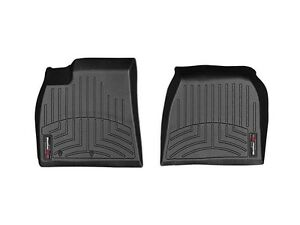 weathertech floor mats floorliner for tesla model s 2012 2014 1st row black ebay. Black Bedroom Furniture Sets. Home Design Ideas