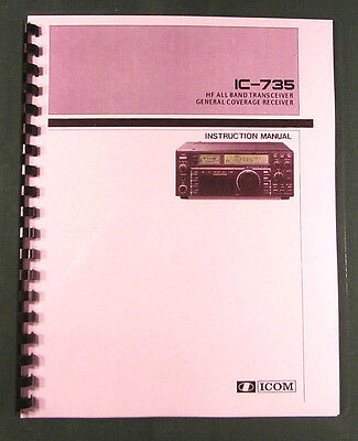 Premium Card Stock Covers /& 32 LB Paper! ICOM IC-706MKII Instruction Manual