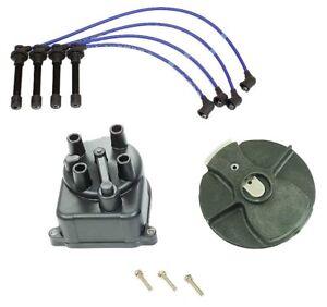 Cap-Rotor-NGK Wires-Spark Plug-PCV Kit Honda 1996-2000 Civic EX 1.6L