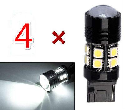 4x High Power 7443 Cree LED 12 SMD 6000K Xenon White Reverse Light 60W 6000LM