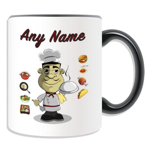 Personalised Gift Chef Dish Mug Cup Birthday Christmas Name Text Him Her Kid