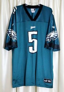huge discount b3142 19025 Details about Puma Philadelphia Eagles Donovan McNabb #5 Green Men's Jersey  Size XL