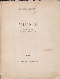 Détails Sur Rafael Alberti Poesie Edizioni Della Meridiana 1949 Poesia Spagnola Poesia