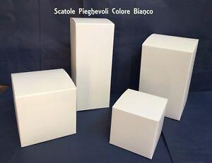 SCATOLE-X-BOMBONIERE-SCATOLA-ASTUCCIO-PIEGHEVOLE-COLORE-BIANCO-VARIE-DIMENSIONI