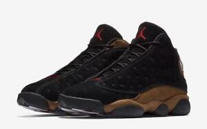 quality design f5ca0 19d4d Details about AIR JORDAN 13 RETRO BG XIII 884129 006 BLACK/GYM  RED/WHITE/OLIVE GREEN BROWN