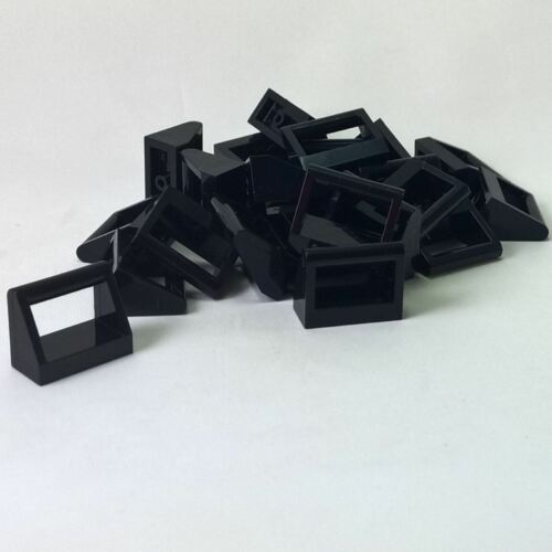 25 NEW LEGO Tile, Modified 1 x 2 with Handle Black