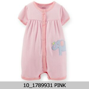 Carters-Baby-Girls-Striped-Elephant-Creeper-6M-9M-New-with-Tag-1789931