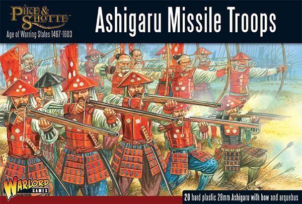 Pike & Shotte Ashigaru Missile Troops 28mm Warlord Games Ronin Samurai Japan Toh