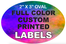 Custom Printed Labels Full Color 2 X 3 Oval Stickers High Quality On Rolls