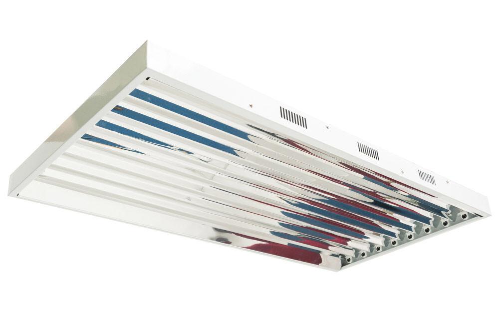 T5 Lightwave Hydroponics CFL Low Energy Propagation Grow Light Reflector Tube