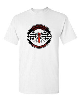 Dragstrip Clothing Mens Route 66 Hot Rod Rockabilly T`Shirt Racing Flags T`Shirt