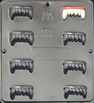 Dracula's Vampire Teeth Chocolate Candy Mold Halloween  947 NEW