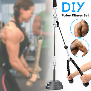 fitness pulley cable gym arm biceps triceps workout